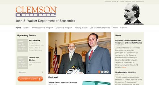Project view of Clemson University's John E. Walker Economics Department