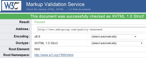 AfterScreenshot of Adec About Page Validation