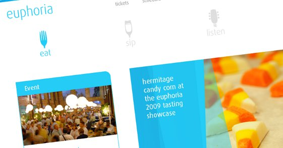 A screen shot of Euphoria Greenville's new website