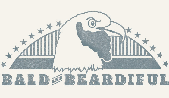 A bald eagle with a beard. The perfect mascot.