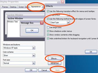Clear Type Windows XP