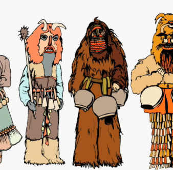 What the hell? Man-bear-pig and Chewbacca?